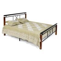 Кровать EUNIS (AT-9220) 140х200см, Красный дуб