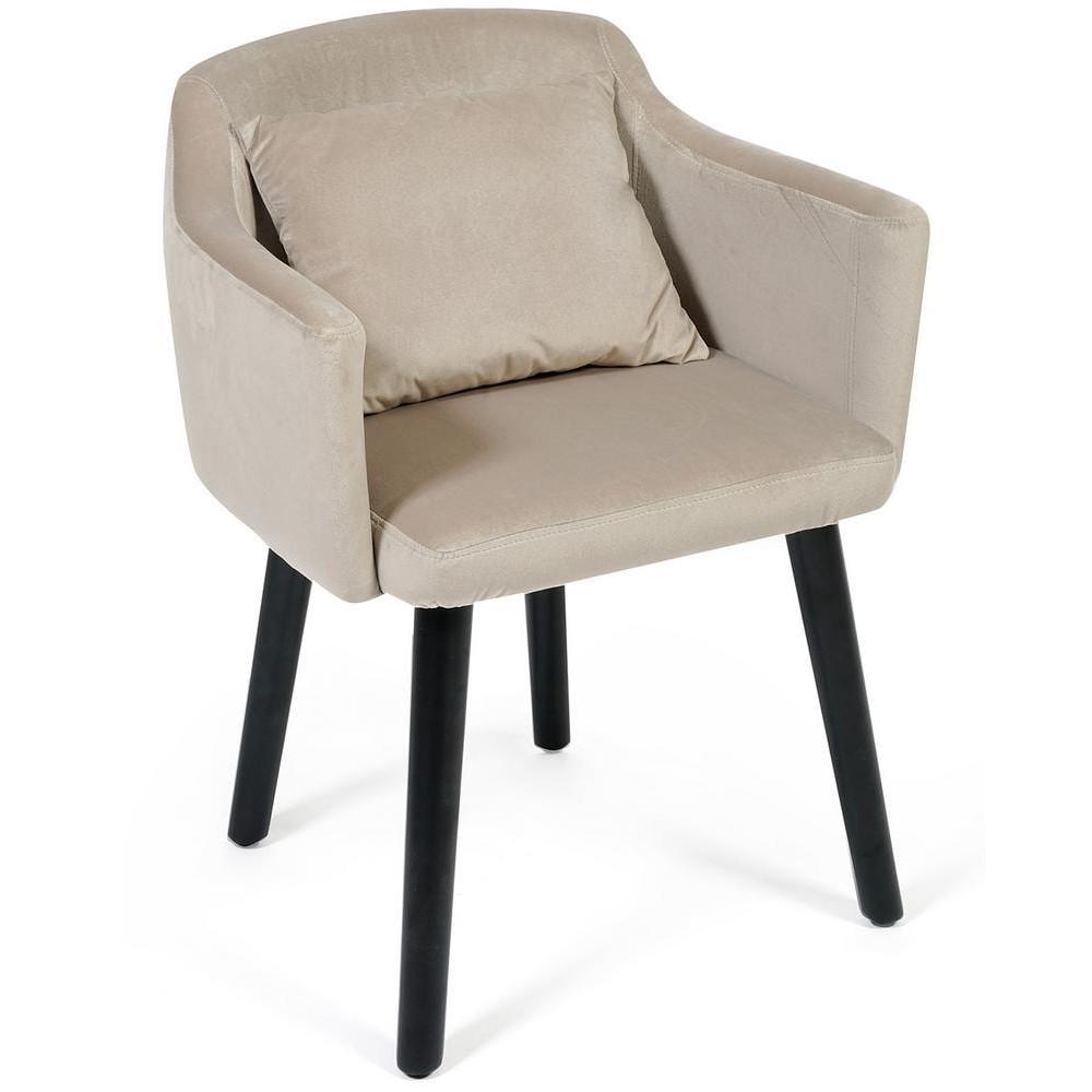 Кресло Secret De Maison Monde (mod.1529) бук, ткань: вельвет, светло-серый