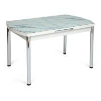 Стол MARMARIS (Mod.18) металл,мдф, стекло, белый мрамор