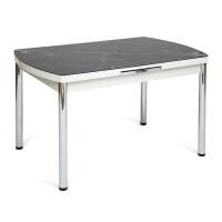 Стол MARMARIS (Mod.18) металл,мдф, стекло, черный мрамор