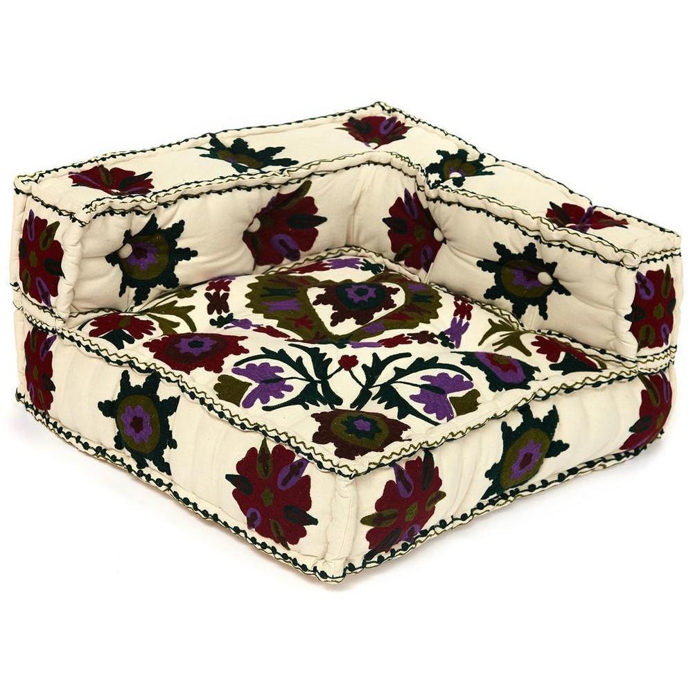 Модуль мягкий угловой Secret De Maison MAHARAJA (mod. 10235) cotton canvas sujani, белый с цветами