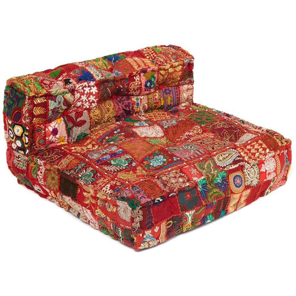 Модуль мягкий со спинкой Secret De Maison GIPSY (mod. MA-100) cotton patchwork, этнический красный