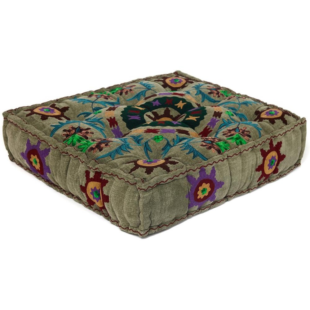 Модуль мягкий Secret De Maison SOL (mod. MA-109) cotton canvas sujani,  серый с цветами