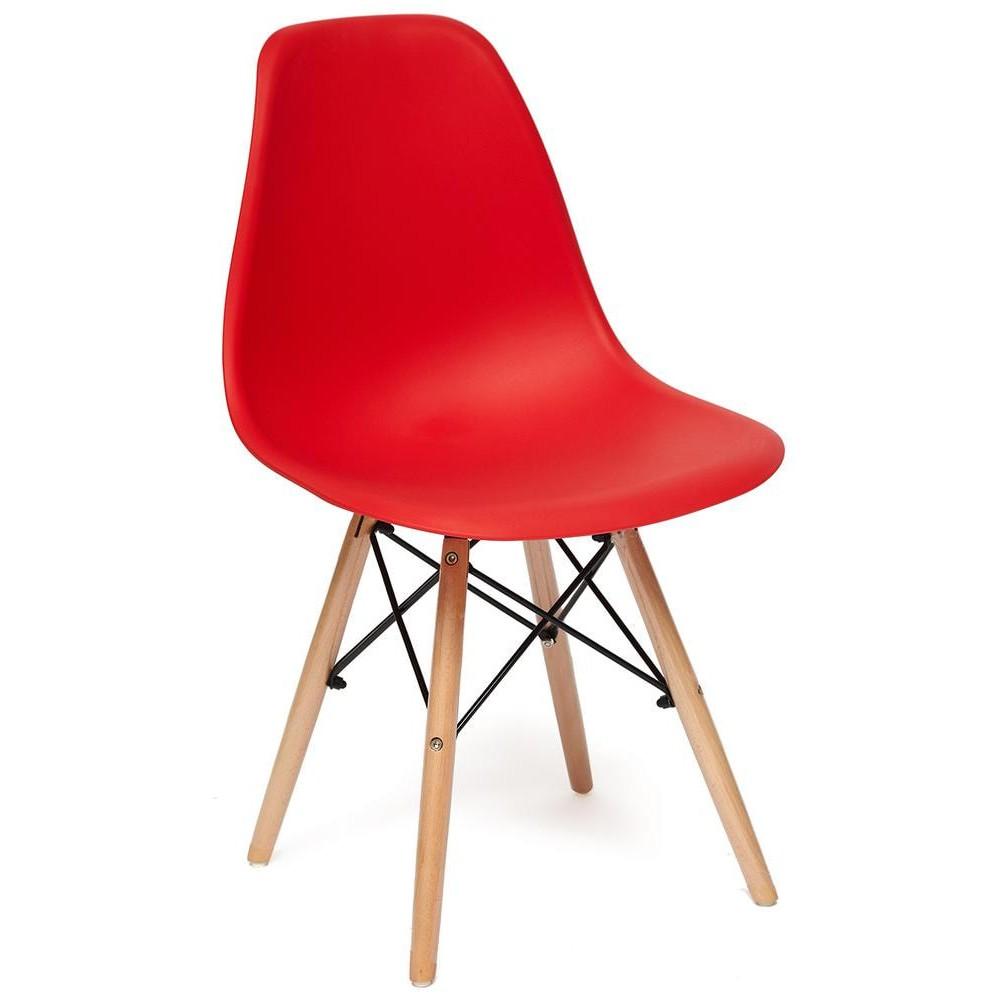 Стул Secret De Maison CINDY (EAMES) (mod. 001) дерево береза/металл/сиденье пластик, красный/red