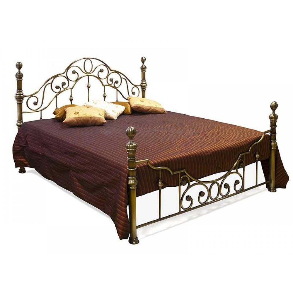 Кровать металлическая WF 9603 Queen (160*200см), Античный никель