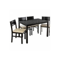 Обеденная группа Кабур (Kabur) (стол и 4 стула) cappuccino / cream