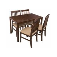 Обеденная группа Луар (Luar) (стол и 4 стула) espresso / cream