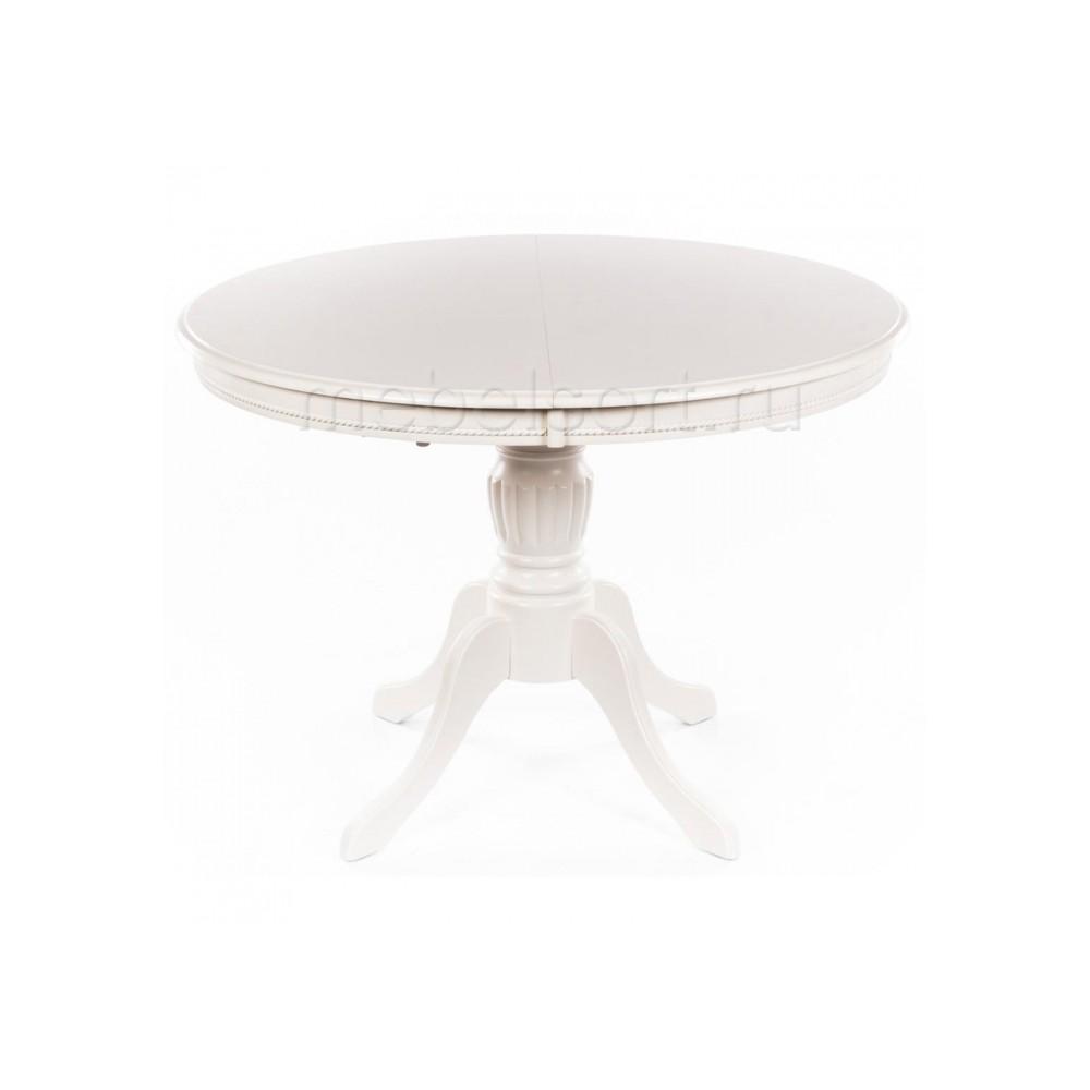 Стол Лилия 106 молочно-белый