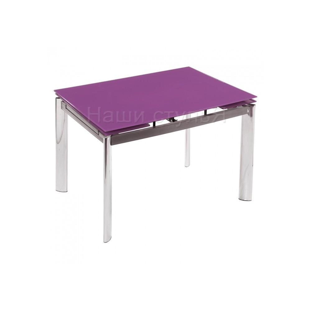 Стол стеклянный Кубо (Cubo) 100 фиолетовый