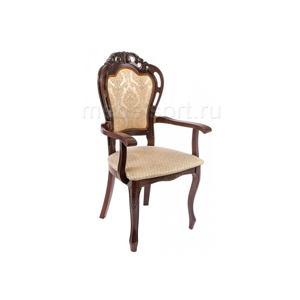 Кресло Бронте (Bronte) вишня / бежевый патина