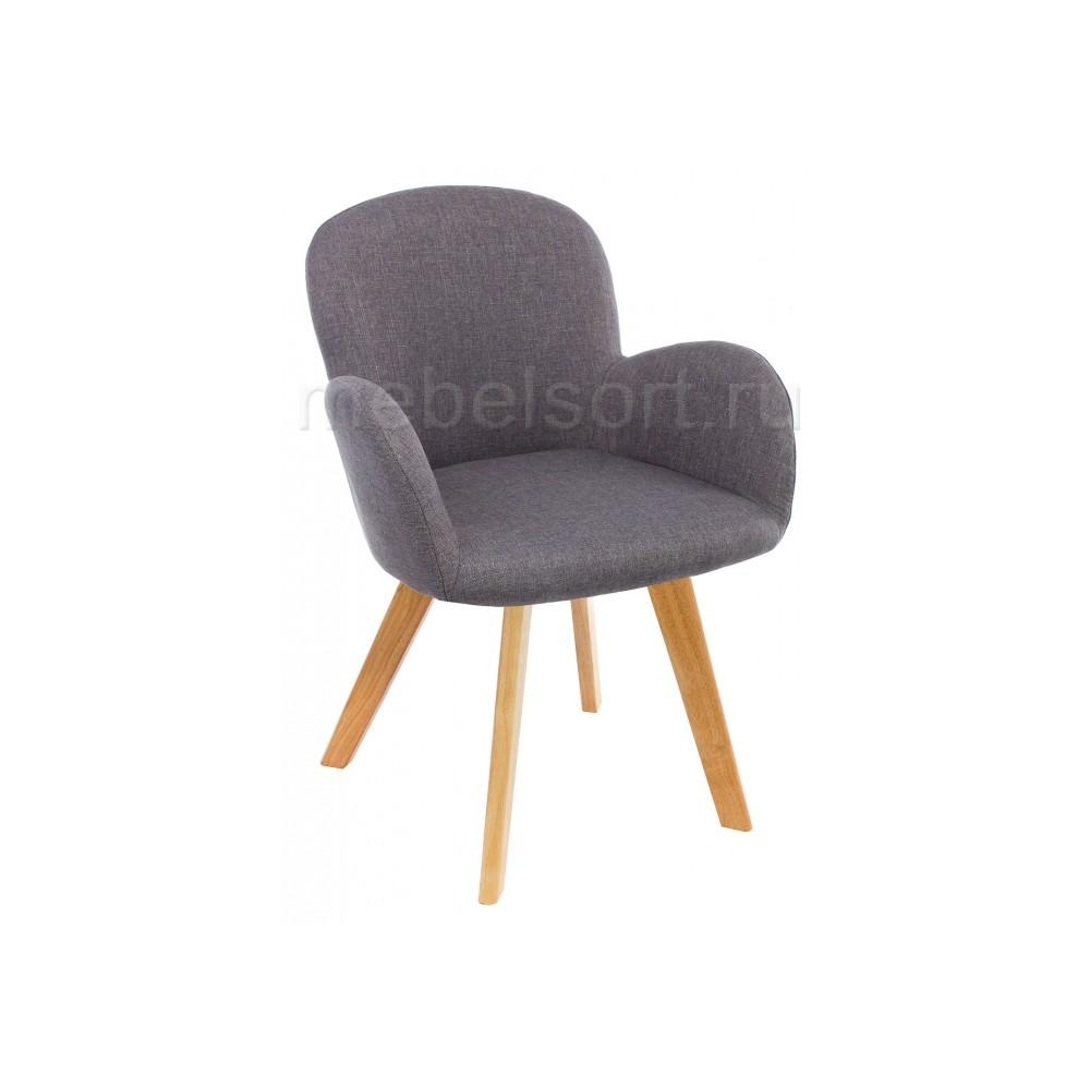 Стул деревянный Азия (Asia) wooden legs / grey fabric