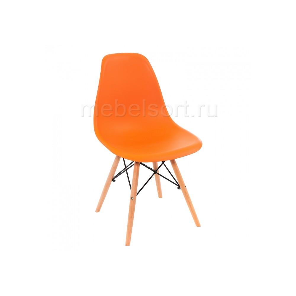 Стул деревянный Эймс (Eames) PC-015 оранжевый