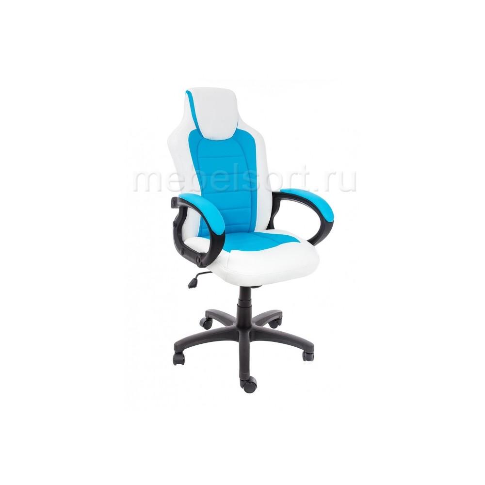 Компьютерное кресло Кадис (Kadis) светло-синее / белое