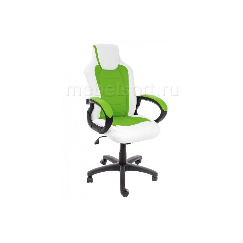 Компьютерное кресло Кадис (Kadis) светло-зеленое / белое