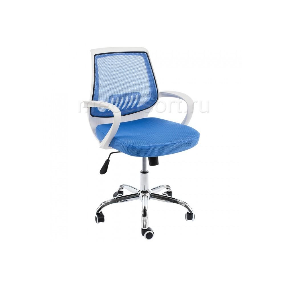 Компьютерное кресло Ергоплюс (Ergoplus) белое / голубое