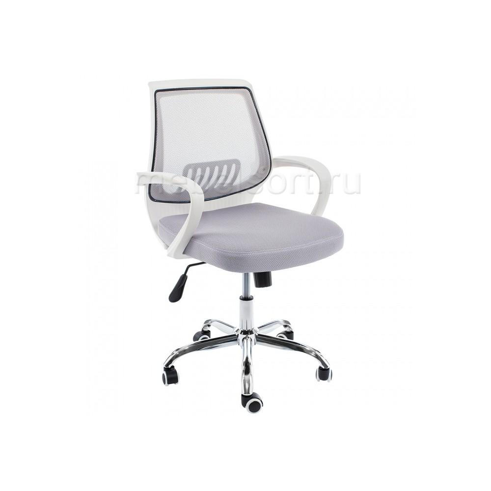 Компьютерное кресло Ергоплюс (Ergoplus) белое / серое