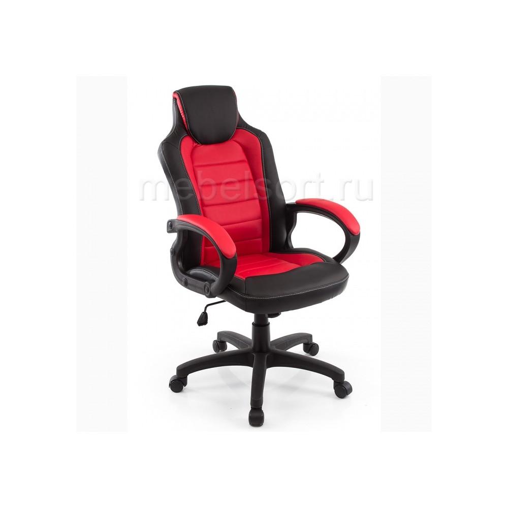Компьютерное кресло Кадис (Kadis) темно-красное / черное