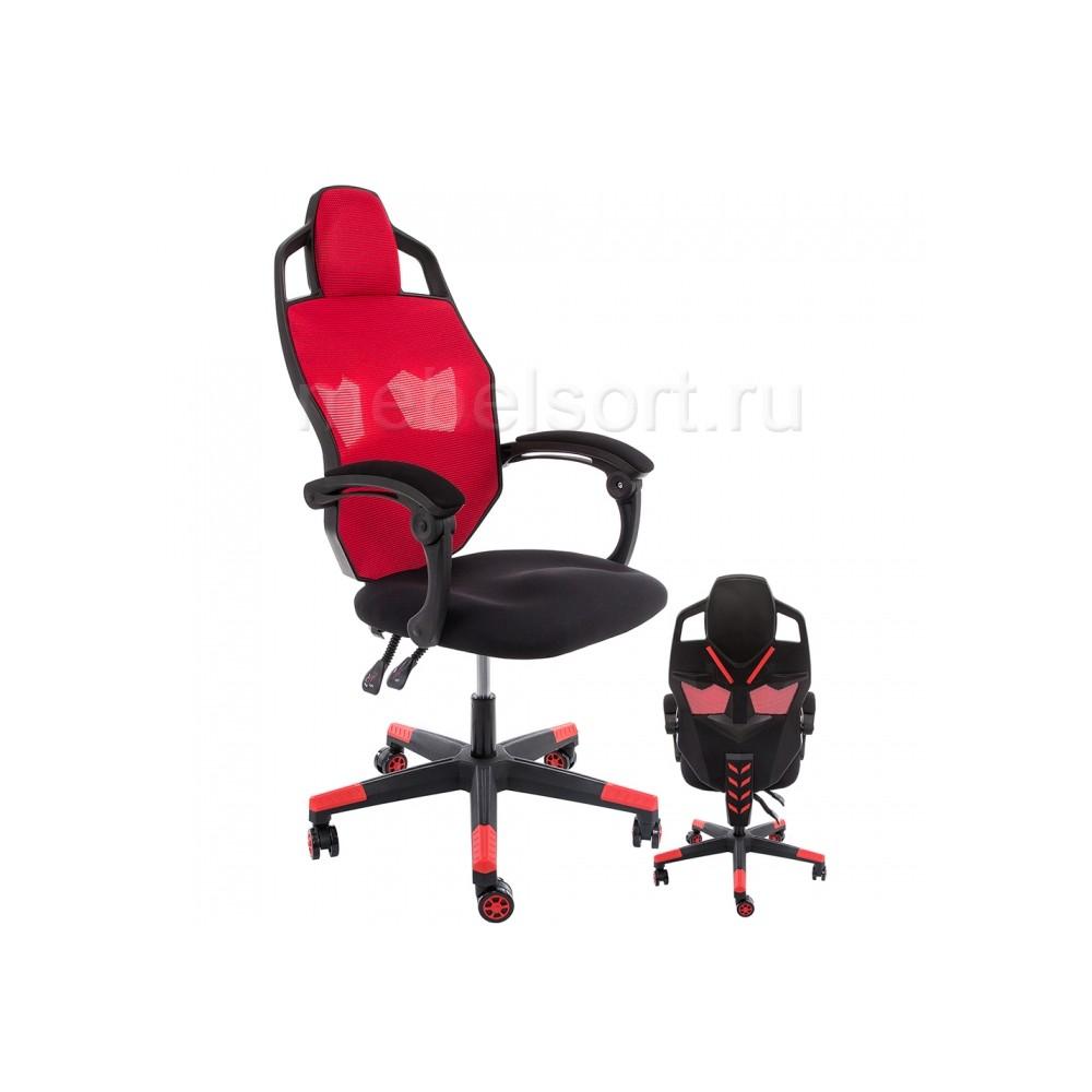Компьютерное кресло Рыцарь (Knight) черное / красное