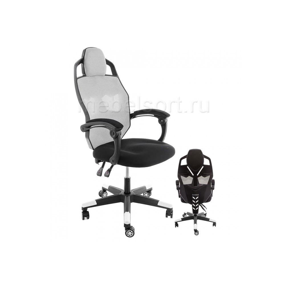 Компьютерное кресло Рыцарь (Knight) черное / серое