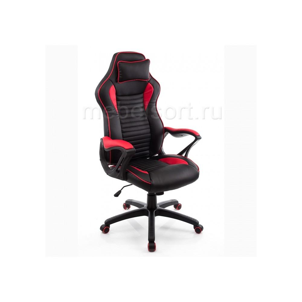 Компьютерное кресло Леон (Leon) красное / черное