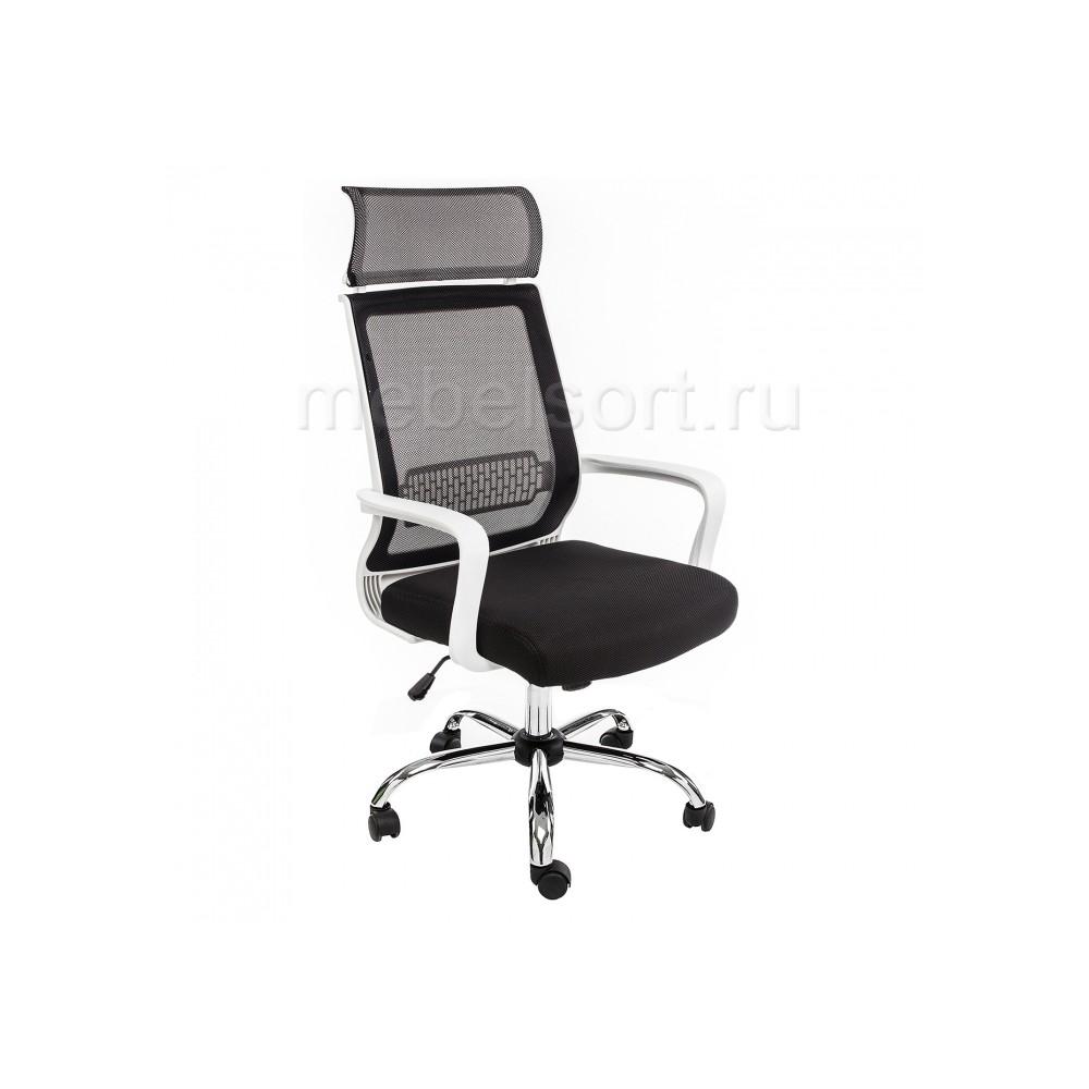 Компьютерное кресло Лион (Lion) черно-белое