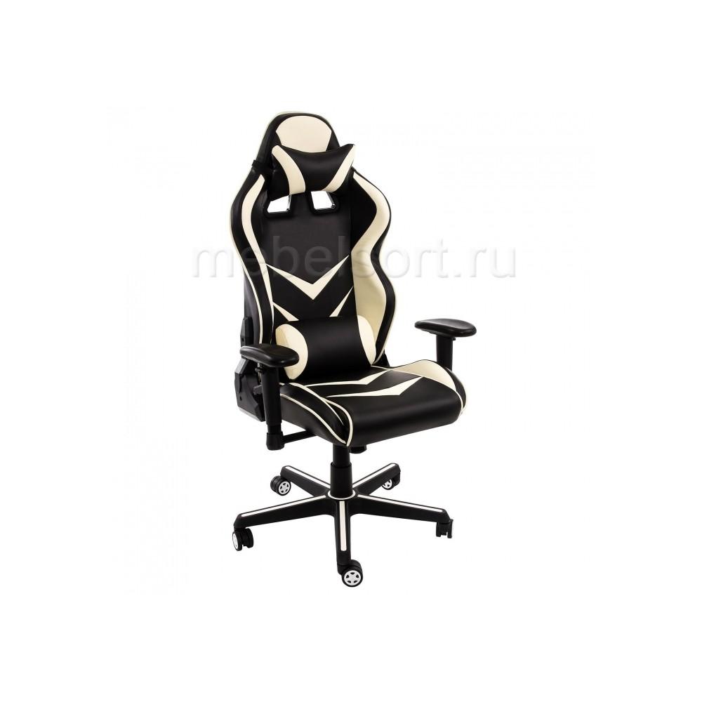 Компьютерное кресло Райсер (Racer) черное / бежевое