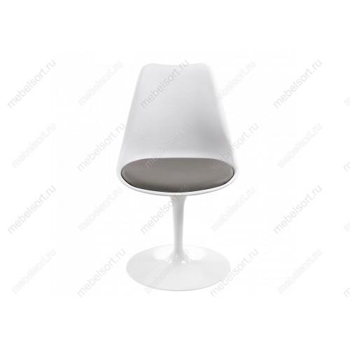 Стул Тулип (Tulip) белый / серый